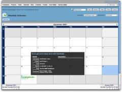 web2project calendar screenshot